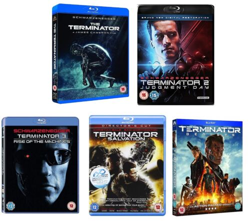 TERMINATOR 1-5 1984-2015 Judgment Day/Salvation/Rise of/Genisys RgFree BLU-RAY