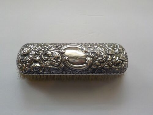 19th C. Gorham Art Nouveau REPOUSSE  Sterling Silver Clothes Brush