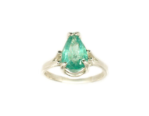 Emerald Ring 2ct Antique 19thC Siberia Gem of Medieval Shaman Magician Prophecy