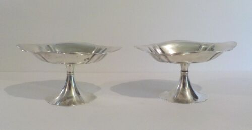 Pair International Sterling Silver Fluted Compotes, # T122