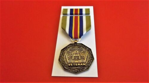 """PUBLIC SERVICE MEDAL RIBBON STOCK NAVY MERIT 12 /"""" REPLACEMENT PIECE  #RB144"""