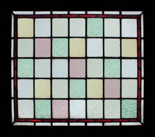 Exceptional Victorian Beauty English Antique Stained Glass Window Original Frame