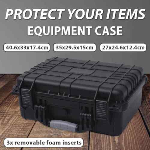 vidaXL Protective Equipment Case Black Travel Carry Protector Multi Sizes