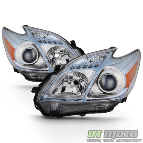 For 2010-2011 Toyota Prius Halogen Model Headlights Headlamps 10 11 Left+Right <br/> Limited Life Time Warranty,free return,SAE DOT approved