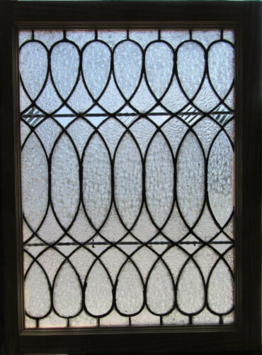 ~ANTIQUE STAINED GLASS WINDOW ~ 33 x 25.25 ~ ARCHITECTURAL SALVAGE ~