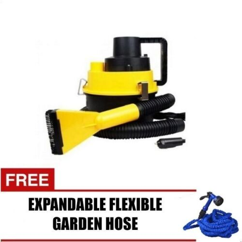 Wet and Dry Portable Car Vacuum Cleaner (Yellow) with Expandable Hose 25ft <br/> Paypal Accepted✔Same Business Day*Dispatch✔Powerseller✔