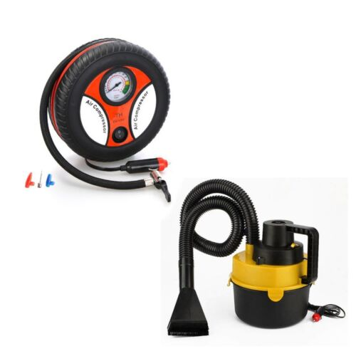 Wet and Dry Portable Car Vacuum Cleaner (Yellow) with 260PSI Auto Car Inflator <br/> Paypal Accepted✔Same Business Day*Dispatch✔Powerseller✔