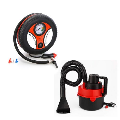 Wet and Dry Portable Car Vacuum Cleaner (Red) with 260PSI Auto Car Inflator <br/> Paypal Accepted✔Same Business Day*Dispatch✔Powerseller✔