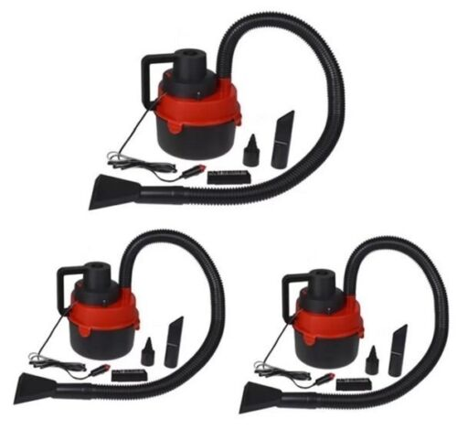 DC12V Monlove Wet and Dry Portable Car Vacuum Cleaner (Red) Set of 3 <br/> Paypal Accepted✔Same Business Day*Dispatch✔Powerseller✔