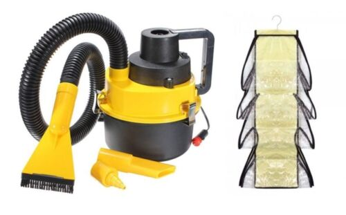 DC12V Monlove Wet and Dry Portable Car Vacuum Cleaner (Yellow) with 8 Organizer <br/> Paypal Accepted✔Same Business Day*Dispatch✔Powerseller✔