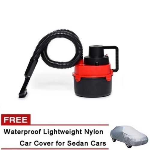 Monlove Wet and Dry Portable Car Vacuum Cleaner (Red) with Sedan Car Cover <br/> Paypal Accepted✔Same Business Day*Dispatch✔Powerseller✔