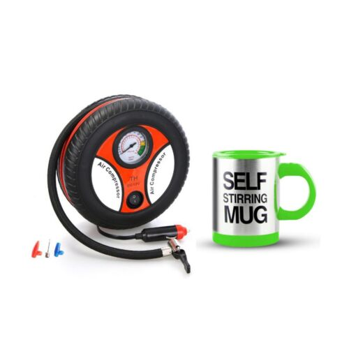 260PSI Auto Car Electric Tire Inflator with Self Stirring Mug (Green) <br/> Same Business Day* Dispatch✔ Powerseller✔