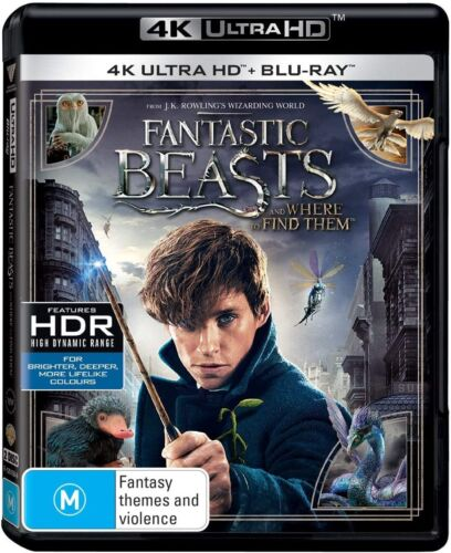 FANTASTIC BEASTS (2016) AND WHERE TO FIND THEM Harry Potter Au 4K UHD + BLU-RAY