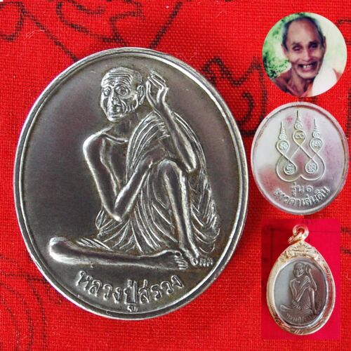 2540 BE Phra lp Suang Tewadalendin Alpacca Coin Kamnansanchai Lucky RICH Amulet