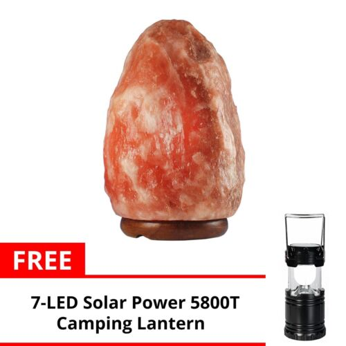 Keimav Natural Shape Himalayan Salt Lamp Light Dimmer w/ Camping Lantern (Black) <br/> Paypal Accepted✔Same Business Day*Dispatch✔Powerseller✔