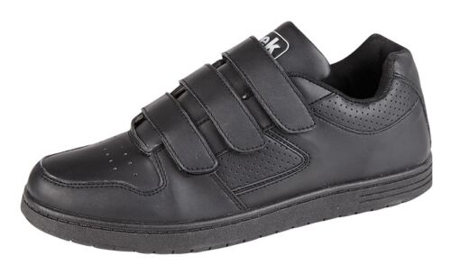 Mens Wide Fitting Trainers Black Touch Fastening New Sizes 6 7 8 9 10 11 12