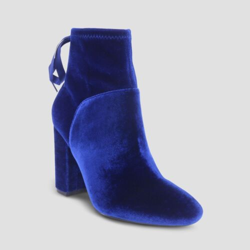 Who What Wear Women's Amber Blue Suede Bootie