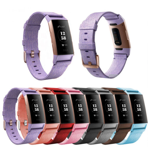For Fitbit Charge 3 Replacement Canvas Watch Band Bracelet Wrist Strap