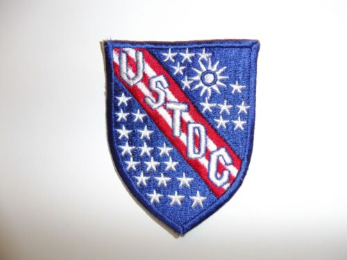 e1377 USTDC 1960's United States Taiwan Defense Command patch white IR13TReproductions - 156443