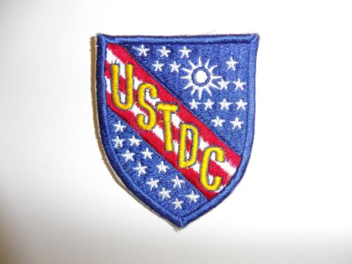 e1378 USTDC 1960's United States Taiwan Defense Command patch yellow IR13T