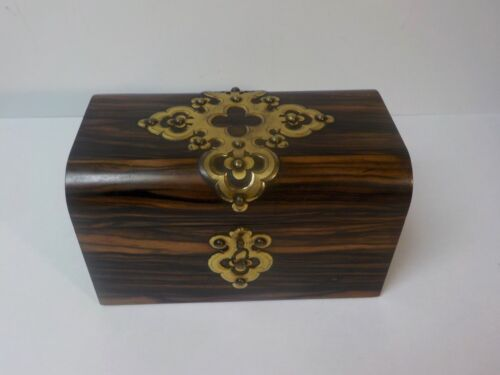 Mid-19th C. Rosewood Double Tea Caddy, Pierced Brass Decoration