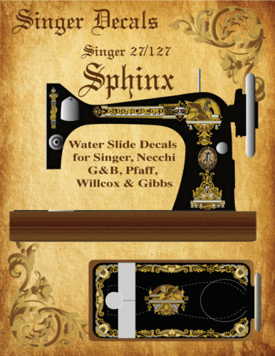 Singer Model 27 127 Multi-Color Sphinx Style Sewing Machine Restoration Decals