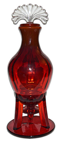 New Martinsville Moondrops Ruby RARELY FOUND Rocket Decanter
