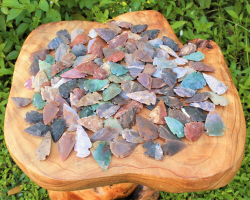 Lot 200 Indian Arrowheads New Replica (Agate Natural) Spearhead Bow 100 x 2