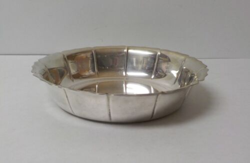 """Lunt Early Dublin Design Sterling Silver Fluted 9"""" Bowl #713 D, 515 grams"""