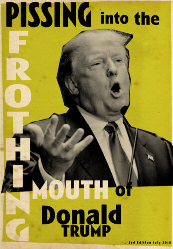 """DONALD TRUMP """"PISSING IN MOUTH"""" LIMITED EDITION NUMBERED PRINT BILLY CHILDISH"""