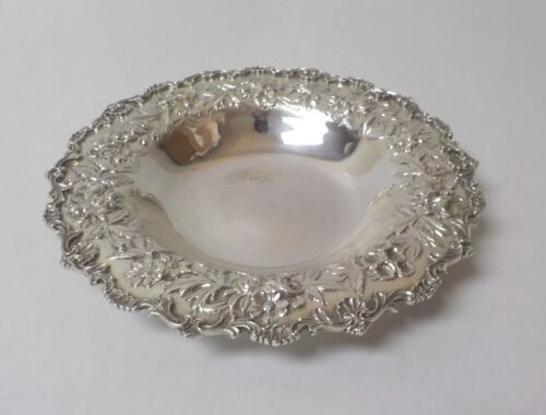 "Kirk REPOUSSE Sterling Silver 8"" Bowl #714, 275 grams"