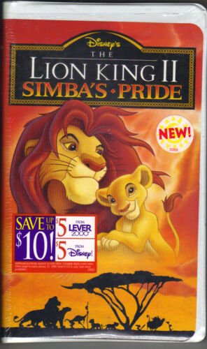 brand new sealed The Lion King II Simba's Pride VHS PC