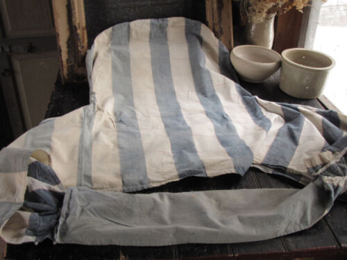 Antique French Vichy check chair slipcover 19/18th c