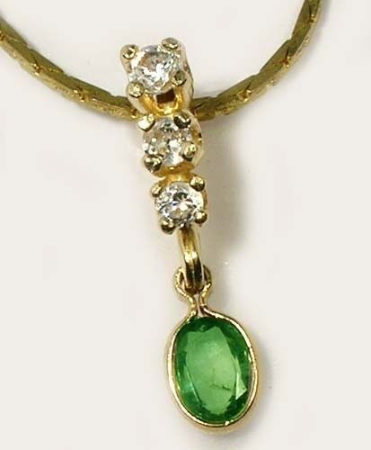 Alexandrite Gold Pendant 1/3ct+ Antique 19thC Russia Natural Color-Change 14kt