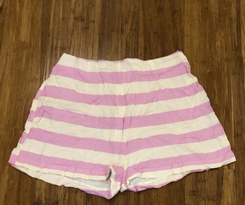 Sale Ends 24 Jan Ladies Girl White Pink Striped Summer Casual Party Skirt Skort
