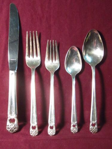 Silverplate 5 PIECE PLACE SETTING ETERNALLY YOURS  BY 1847 ROGERS Bro. no mono