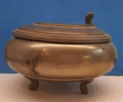 CK and Co. C. Kurz, Tiel Holland Pewter Bowl - Lidded & Footed