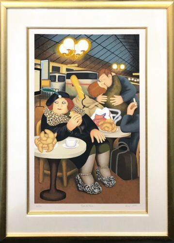 """BERYL COOK """"GARE DU NORD"""" 1990   HAND SIGNED SERIGRAPH   FRAMED   OTHERS AVAIL"""
