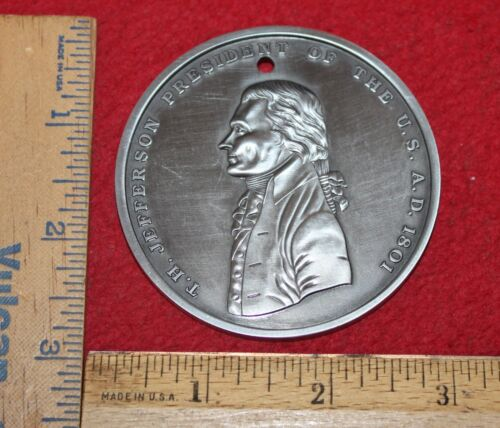 Reproduction 1801 Thomas Jefferson Peace Medal....Buy It Now!!