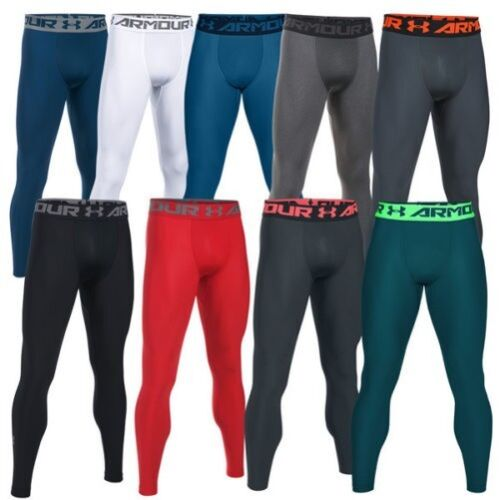 Under Armour Heatgear 2.0 Compressione Leggings Uomo Pantaloni 1289577