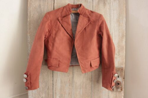 Short coat or cropped Jacket Vintage French 1900 theater costume Terracotta tone