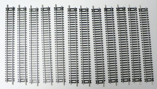 HO Scale Model Railroad Trains Steel Alloy Conventional Track 12 Straight Pieces