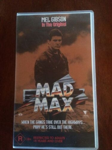MAD MAX*THE ORIGINAL*1979 AUSTRALIAN RELEASE*PAL VHS*RARE CULT CLASSIC*