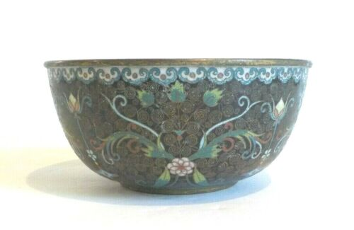 Chinese CLOISONNE Enamel on Bronze Bowl, Qinglong Period