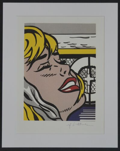 "Roy Lichtenstein ""Shipboard girl"" Lithograph plate signed"