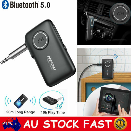 MPOW Bluetooth 5.0 Audio Music Receiver Wireless AUX Car Adapter 15M Long Range