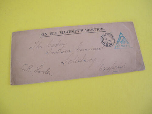 WW1 1915 Cover Field Post Office H.X Passed by Censor