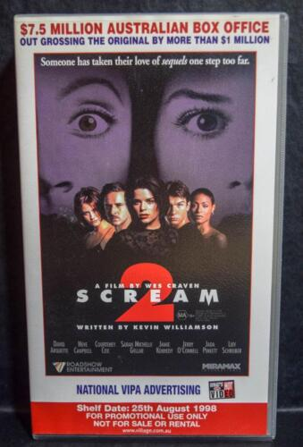 VHS Promo 1998 2 in 1 Video SCREAM 2 & MRS BROWN Promotional VideoTape ROADSHOW
