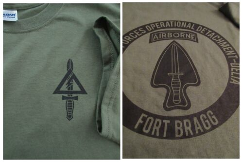 Delta Force Airborne (1st SFOD-D) The Unit Silk-Screened T-Shirt MEDIUM Ultra Other Militaria - 135