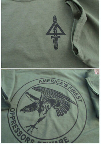 Delta Force (1st SFOD-D) The Unit OPRESSORS BEWARE Silk-Screened T-Shirt LARGEOther Militaria - 135